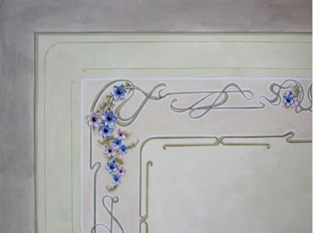 Decorazioni soffitti stile liberty idee per la casa - Soffitti decorati ...